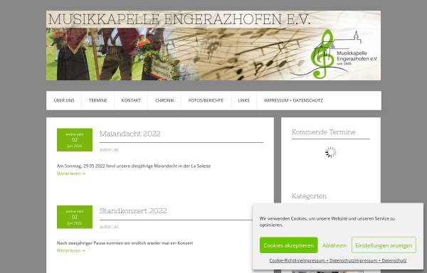 Vorschau von www.mk-engerazhofen.de, Musikkapelle Engerazhofen e.V.