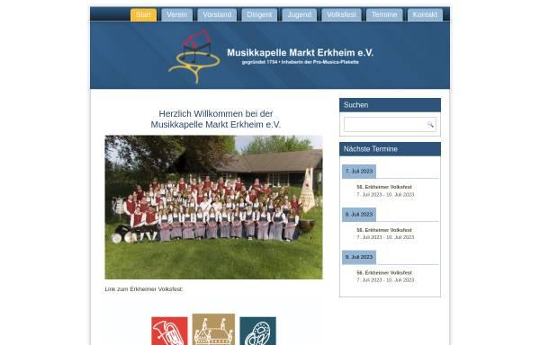 Vorschau von www.mk-erkheim.de, Musikkapelle Markt Erkheim e.V.