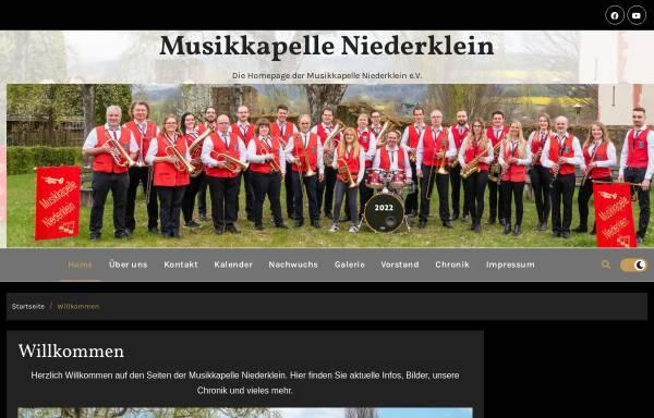 Vorschau von www.musikkapelle-niederklein.de, Musikkapelle Niederklein