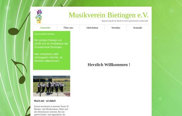 Vorschau von www.musikverein-bietingen.de, Musikverein Bietingen e.V.