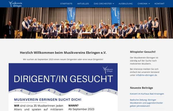 Vorschau von www.mv-ebringen.de, Musikverein Ebringen e.V.
