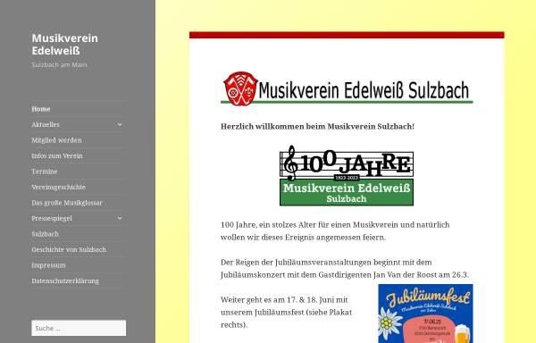 Vorschau von mv-sulzbach.de, Musikverein Edelweiss Sulzbach