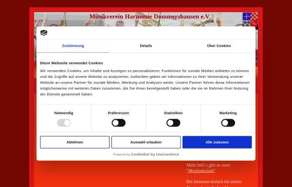 Vorschau von www.musikverein-dommershausen.de, Musikverein Harmonie Dommershausen e.V.