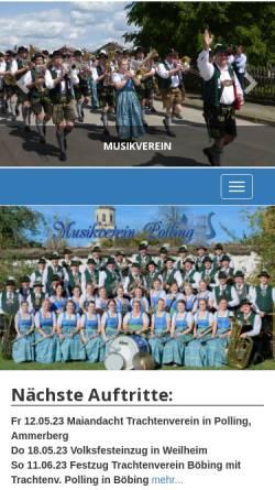 Vorschau der mobilen Webseite www.musikverein-polling.de, Musikverein Polling