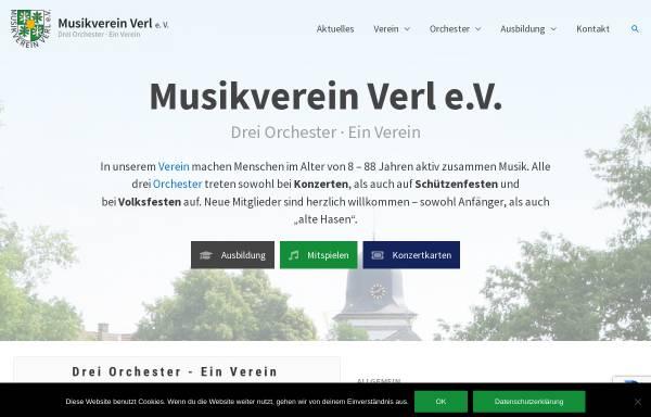 Vorschau von www.musikverein-verl.de, Musikverein Verl e.V.