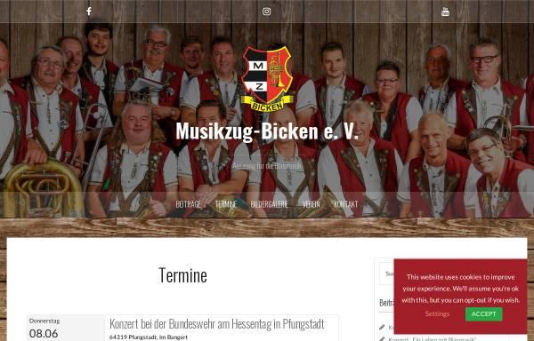 Vorschau von www.musikzug-bicken.de, Musikzug Bicken e.V.