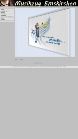 Vorschau der mobilen Webseite www.musikzug-emskirchen.de, Musikzug Emskirchen