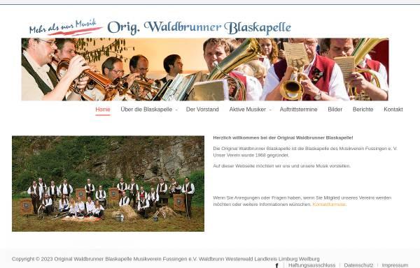 Vorschau von www.original-waldbrunner.de, Die Original Waldbrunner Blaskapelle