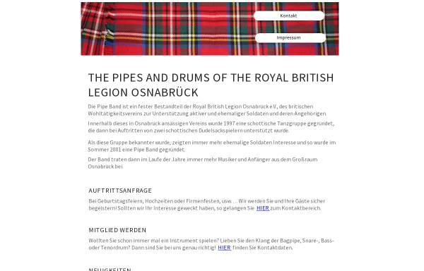 Vorschau von www.pipesanddrums-osnabrueck.de, The Pipes and Drums of the Royal British Legion Osnabrück e.V.