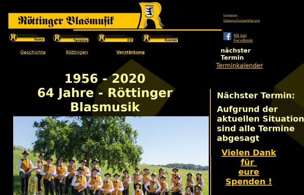 Vorschau von www.roettingerblasmusik.de, Röttinger Blasmusik
