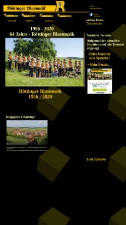 Vorschau der mobilen Webseite www.roettingerblasmusik.de, Röttinger Blasmusik