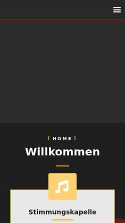 Vorschau der mobilen Webseite www.wickendorfer.de, Wickendorfer Musikanten