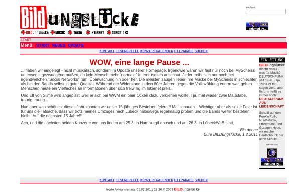 Vorschau von www.bildungsluecke.de, Bildungslücke