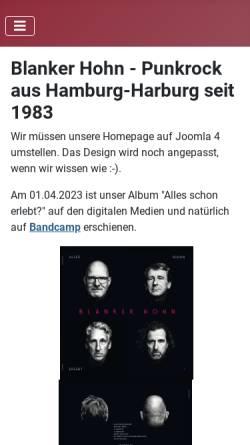Vorschau der mobilen Webseite www.blanker-hohn.de, Blanker Hohn