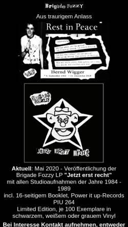 Vorschau der mobilen Webseite www.brigadefozzy.de, Brigade Fozzy