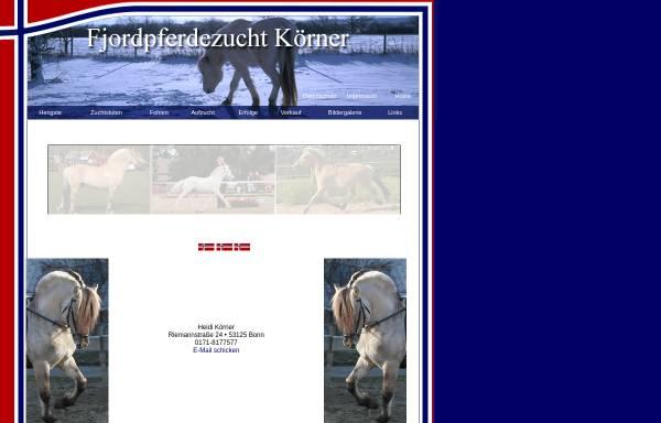 Vorschau von www.fjordpferdezucht-koerner.de, Fjordpferdezucht Sabine Körner