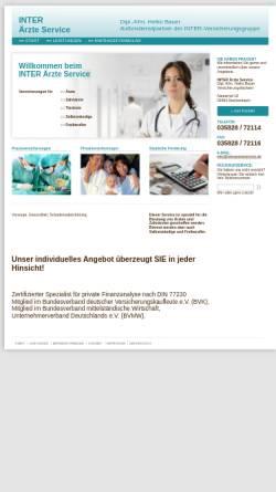 Vorschau der mobilen Webseite www.interaerzteservice.de, Inter Ärzte Service, Inh. Dipl.-Ing. Horst Bauer