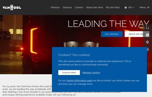 Vorschau von www.vanhool.be, Van Hool