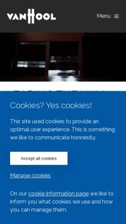 Vorschau der mobilen Webseite www.vanhool.be, Van Hool