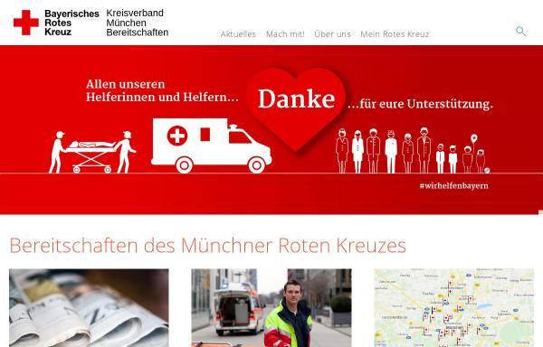 Vorschau von www.bereitschaften.brk-muenchen.de, Bereitschaften des BRK München