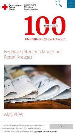 Vorschau der mobilen Webseite www.bereitschaften.brk-muenchen.de, Bereitschaften des BRK München