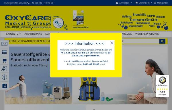Vorschau von www.aru-medizintechnik.com, A.R.U. Medizintechnik Arnhold oHG