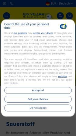 Vorschau der mobilen Webseite www.aru-medizintechnik.com, A.R.U. Medizintechnik Arnhold oHG