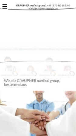 Vorschau der mobilen Webseite www.graupner-medical-group.com, Graupner Medical Group