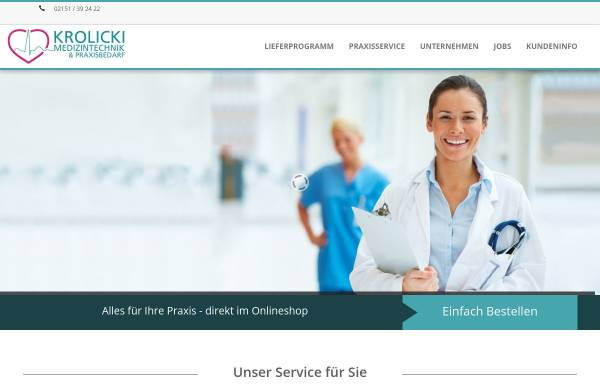 Vorschau von www.krolicki-med.de, Krolicki Medizintechnik Krefeld, Inh. Brigitte Krolicki