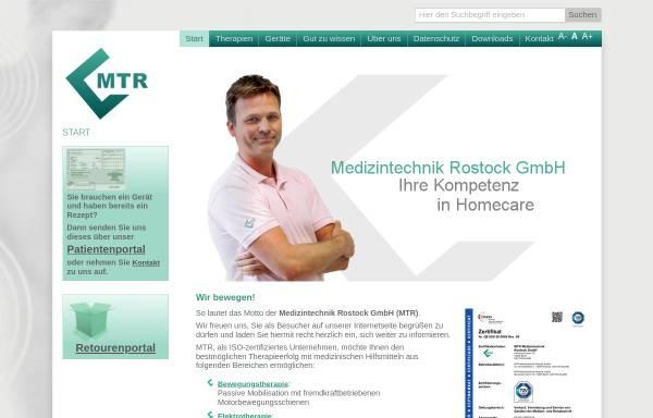 Vorschau von www.mtronline.de, Medizintechnik Rostock GmbH