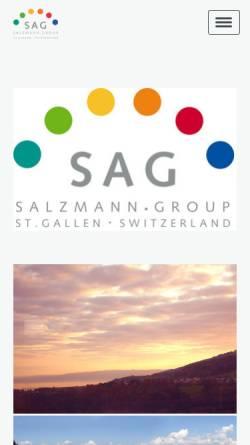 Vorschau der mobilen Webseite www.salzmann-group.ch, Salzmann AG