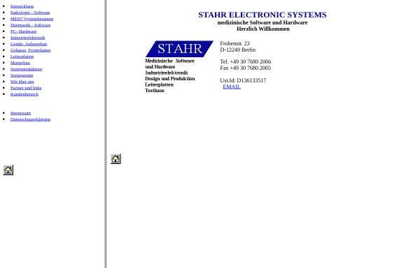 Vorschau von medistahr.de, Stahr Electronic Systems, Inh. Roland Stahr