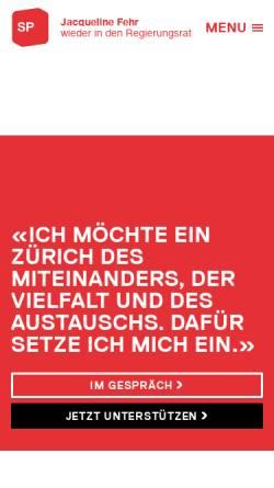 Vorschau der mobilen Webseite jacqueline-fehr.ch, Fehr, Jacqueline - Nationalrätin ZH (SP)