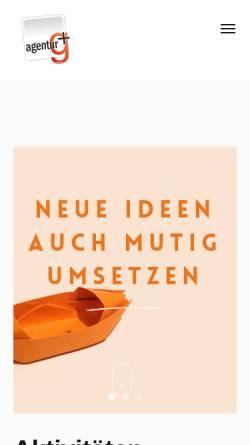 Vorschau der mobilen Webseite www.gplus.at, Agentur G+ Niederleuthner & Wartner Oeg