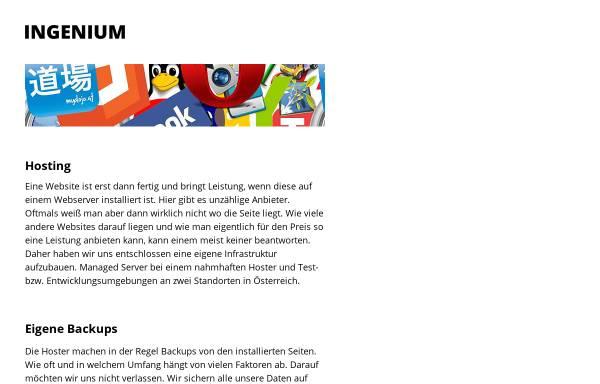 Vorschau von www.ingenium.at, Allerstorfer, Hönig, Valenti GnbR