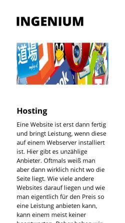 Vorschau der mobilen Webseite www.ingenium.at, Allerstorfer, Hönig, Valenti GnbR