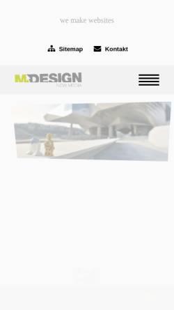 Vorschau der mobilen Webseite mdesign.at, mDesign Jörg Mauhart