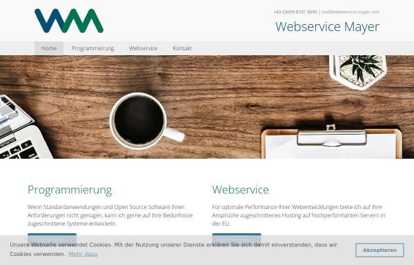 Vorschau von www.webservice-mayer.com, Dr. Peter Mayer