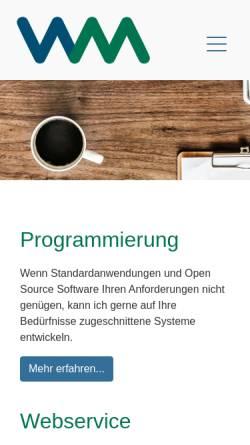 Vorschau der mobilen Webseite www.webservice-mayer.com, Dr. Peter Mayer