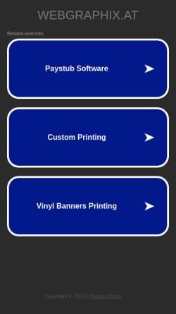 Vorschau der mobilen Webseite www.webgraphix.at, Webgraphix [Eicher & Berger OEG]