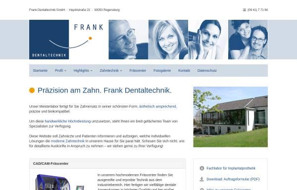 Vorschau von www.frank-dentaltechnik.de, Frank Dentaltechnik