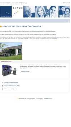 Vorschau der mobilen Webseite www.frank-dentaltechnik.de, Frank Dentaltechnik