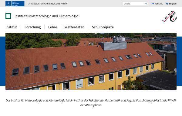 Vorschau von www.muk.uni-hannover.de, Institut für Meteorologie und Klimatologie an der Universität Hannover