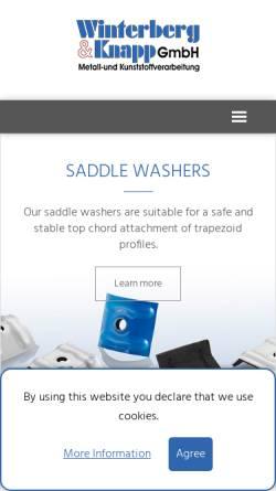 Vorschau der mobilen Webseite www.winterberg-knapp.de, Winterberg & Knapp GmbH