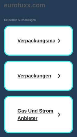 Vorschau der mobilen Webseite www.eurofuxx.com, EuroFuxx GmbH & Co. KG