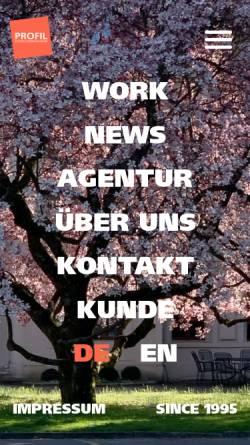 Vorschau der mobilen Webseite www.profildesign.ch, Profil Design