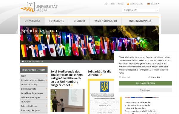 Vorschau von www.sprachz.uni-passau.de, Sprachenzentrum der Universität Passau