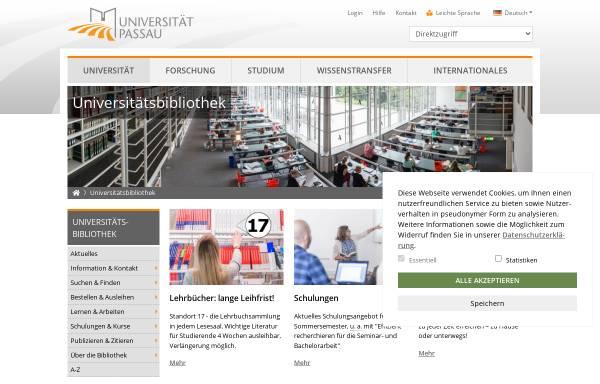 Vorschau von www.ub.uni-passau.de, Universitätsbibliothek Passau