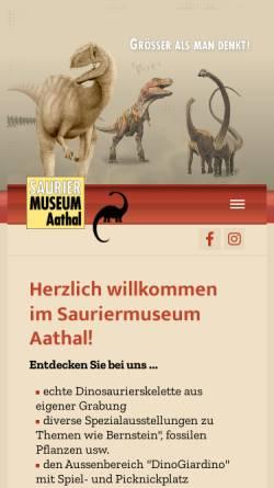 Vorschau der mobilen Webseite www.sauriermuseum.ch, Aathal, Sauriermuseum