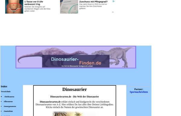 Vorschau von www.dinosaurierarten.de, ABC der Dinosaurier